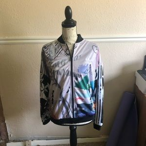 c09fad92c NWT Adidas x Farm Abstract Floral Track Jacket Boutique